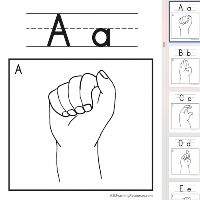 ABC Wall Charts FS ASL Screen Shot