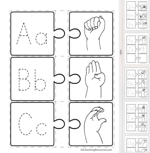 LPB 20 ABC Puzzle 2 of 3 FS Screen Shot sign language