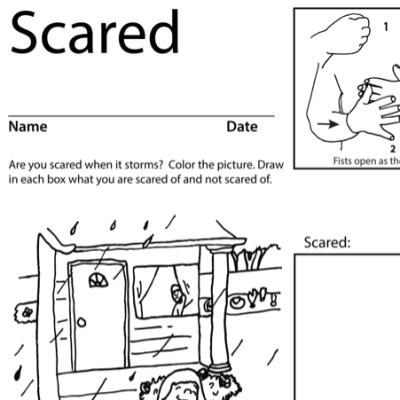 Scared Lesson Plan Screenshot Sign Language