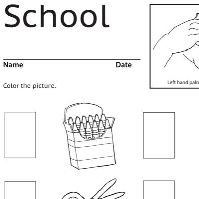 School Lesson Plan Screenshot Sign Language