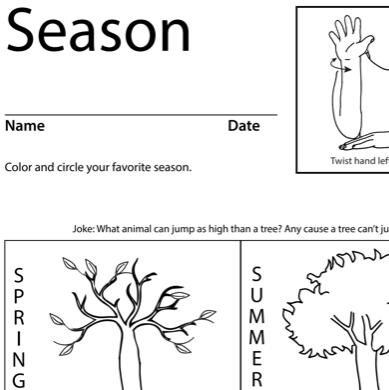 Season Lesson Plan Screenshot Sign Language