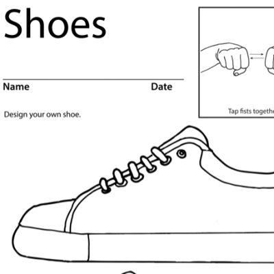 Shoes Lesson Plan Screenshot Sign Language