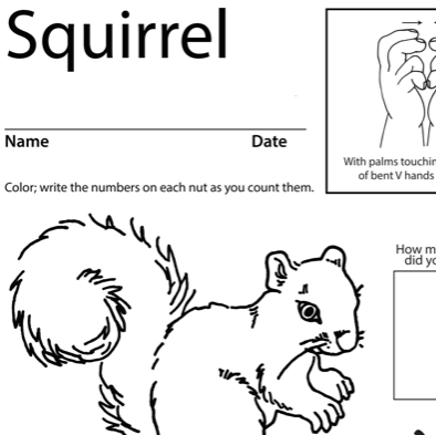 Squirrel Lesson Plan Screenshot Sign Language