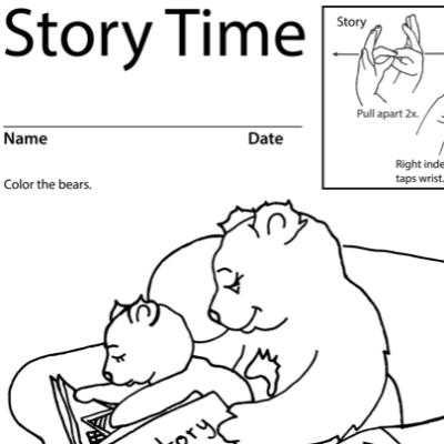 Story Time Lesson Plan Screenshot Sign Language