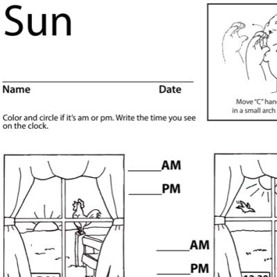Sun Lesson Plan Screenshot Sign Language