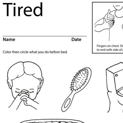 Tired Lesson Plan Screenshot Sign Language