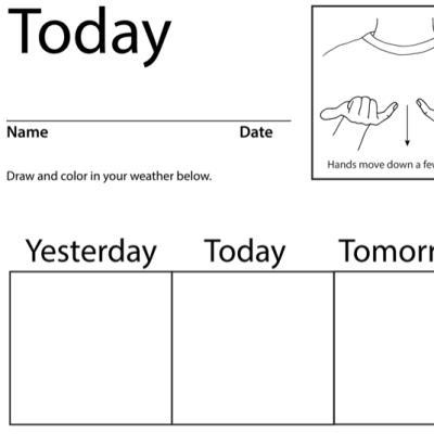 Today Lesson Plan Screenshot Sign Language