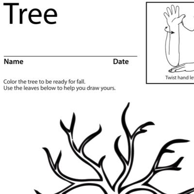 Tree 1 Lesson Plan Screenshot Sign Language