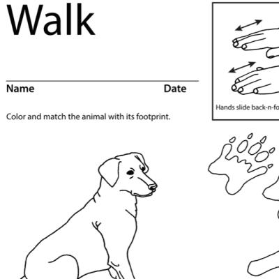 Walk Lesson Plan Screenshot Sign Language