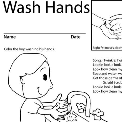 Wash Hands Lesson Plan Screenshot Sign Language