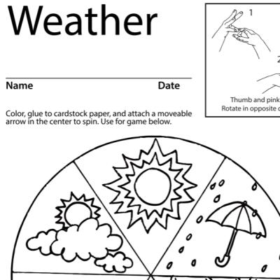 Weather Lesson Plan Screenshot Sign Language