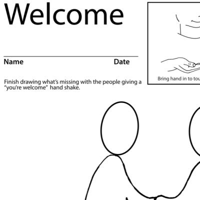 Welcome Lesson Plan Screenshot Sign Language
