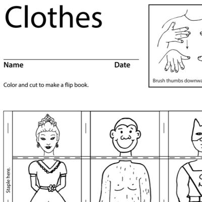 Clothes Lesson Plan Screenshot Sign Language