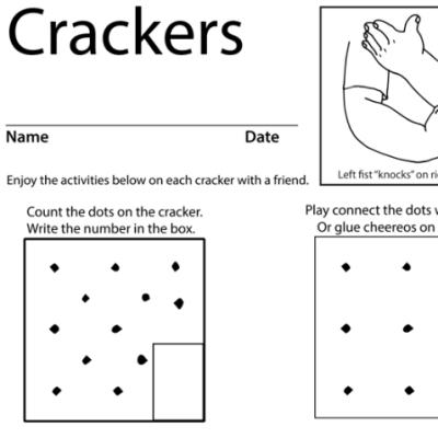 Crackers Lesson Plan Screenshot Sign Language