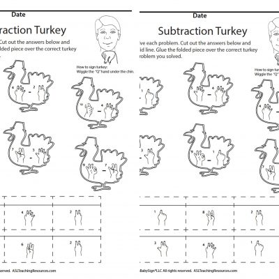Nov Subtraction Turkey ASL screen shot