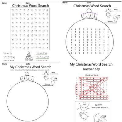 Christmas Word Search ASL Screen shot