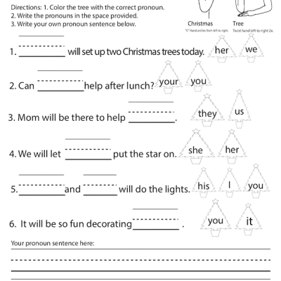 December Pronouns Christmas Tree Screen Shot