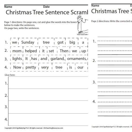 December Sentence Christmas Scramble ASL Screen Shot