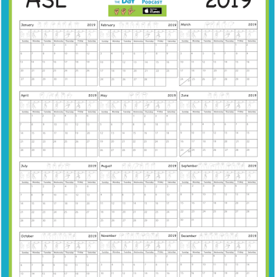 2019 ASL Full Calendar