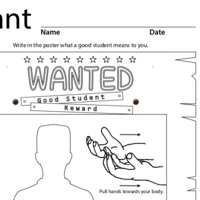 "A screenshot of ""want"" coloring sheet to print"