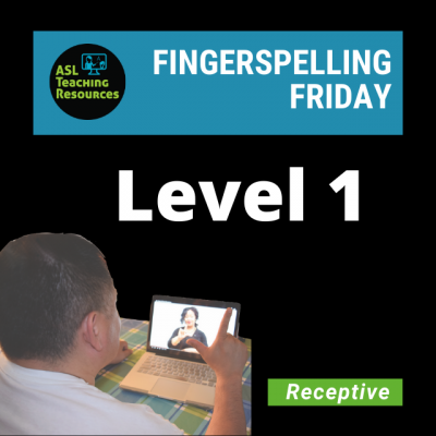 Fingerspelling Friday L1 (Coming Soon)