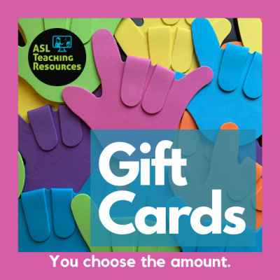 Gift Card Image I love you hands