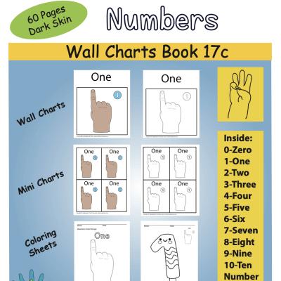 Color Book Front Cover Numbers ASL Dark Skin Screen Shot