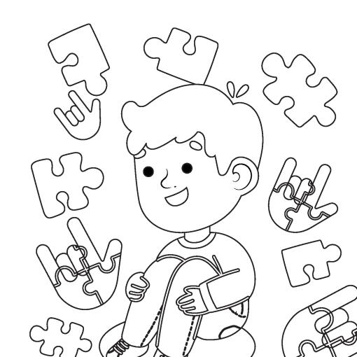 autism-awareness-coloring-sheets-children-asl