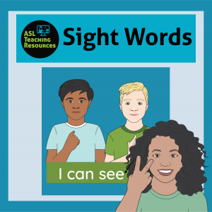 image of sample for sight words I can see