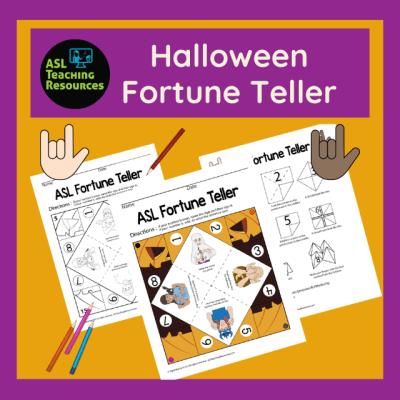 Paper Fortune Teller Game - Halloween